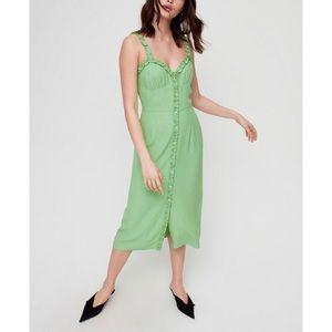 WILFRED   XS LEALIA HEARTTHROB GREEN DRESS ARITZIA